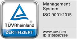 """Zertifiziert nach """"Qualitätsmanagement- und Zertifizierungssystem für Verbände – DGVM-Kriterien"""" und ISO 9001:2008"""